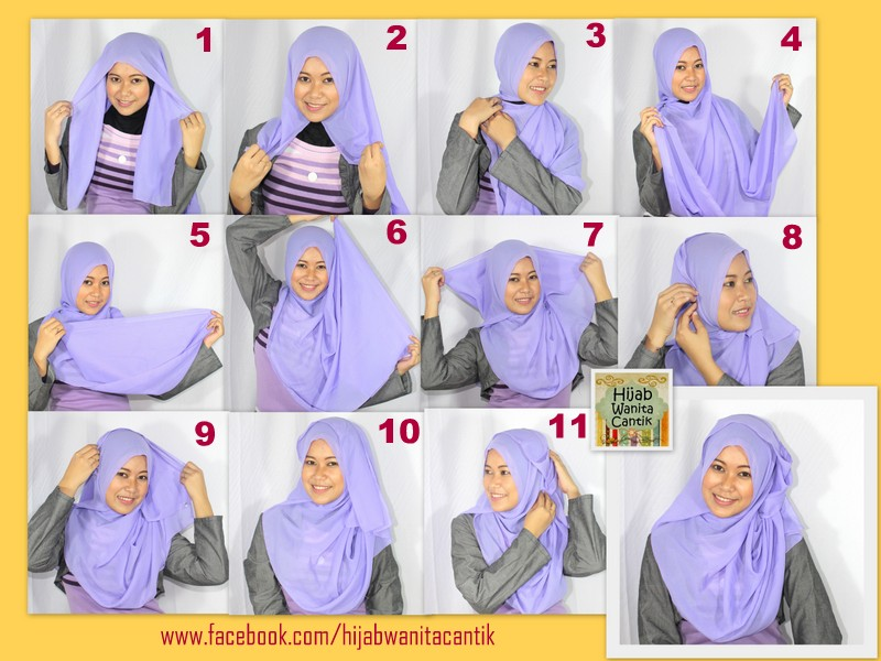 Tutorial Hijab Segi Empat Sukmasufi26